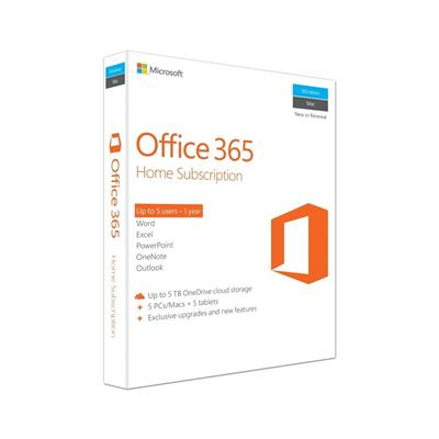 microsoft office 365 home 5pc 1yr mlk  - view 1