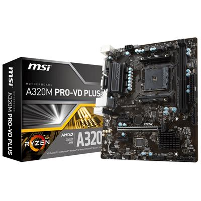 msi msi am4 a320m pro-vd plus m-atx  - click for full details or buy