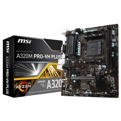 msi msi am4 a320m pro-vh plus m-atx  - click for full details or buy