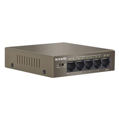 tenda tenda 5-pt poe switch 63w tef1105p-4-63w  - click for full details or buy
