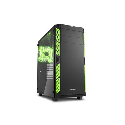 sharkoon sharkoon case ai7000 glass blk/grn  - click for full details or buy