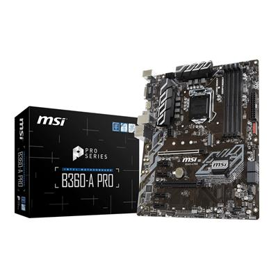 msi msi 1151 b360-a pro  - click for full details or buy