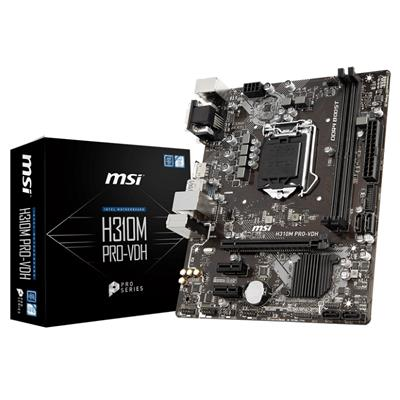 msi msi 1151 h310m pro-vdh m-atx  - click for full details or buy