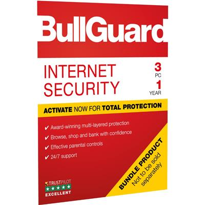 bullguard bullguard bg1906 internet 2019 1y/3win  - click for full details or buy