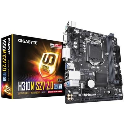 gigabyte gigabyte 1151 h310m s2v 2.0 m-atx  - click for full details or buy