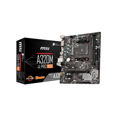 msi msi am4 a320m-a pro max m-atx  - click for full details or buy