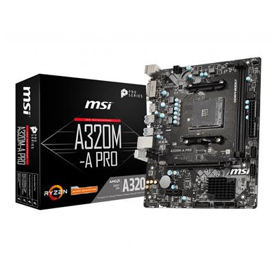 msi msi am4 a320m-a pro m-atx  - click for full details or buy