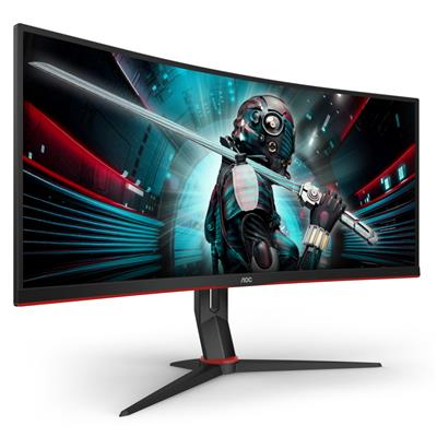 aoc aoc 34 va monitor curved cu34g2x/bk  - click for full details or buy